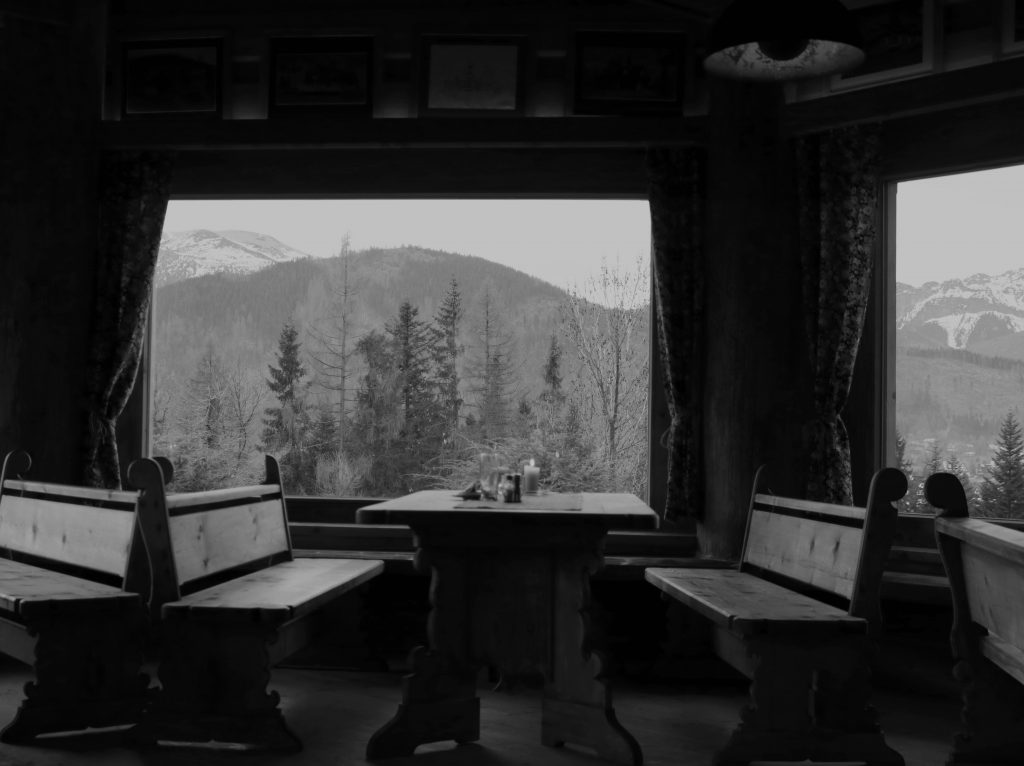 Góralski dwór - widok z okna.